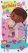 Doc Mcstuffins Birthday Girl Card